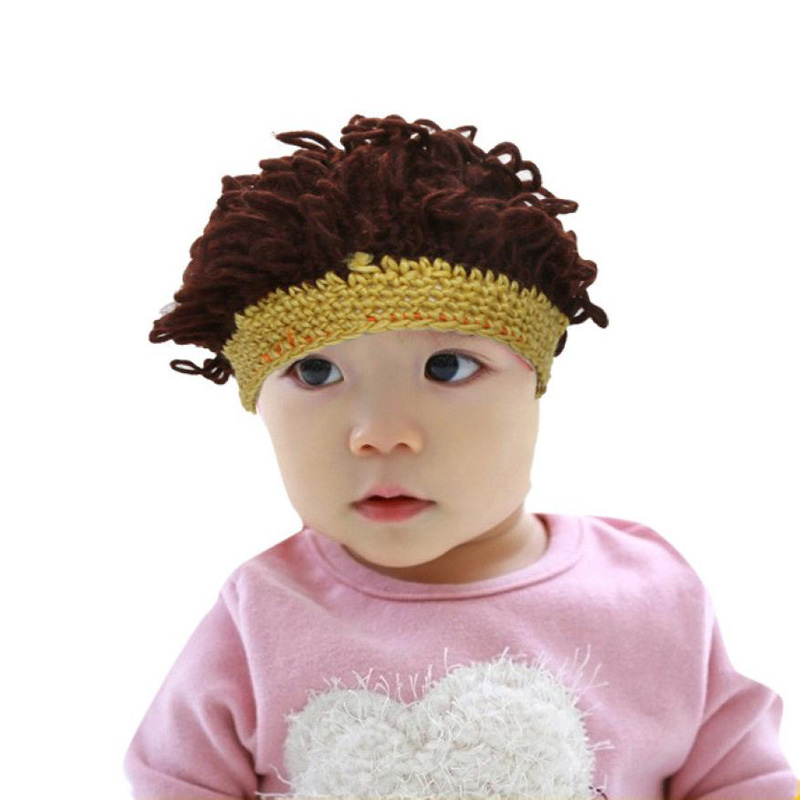 2016 New Novelty Funny Hats For Kids Winter Warm Knit Wool Baby Girls Hats 2-10Years Cute Cowl Beanie Caps bonnet enfant funny baby funny baby twin 2