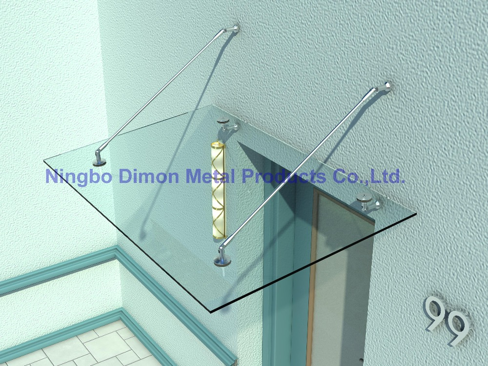 Dimon high quantity glass canopy / awning bracket stainles steel 304 bracket door glass canopy fittings DM-YP 001-without Rod yp150300 150x300cm window canopies garden awning canopy entrance door canopy depth 150cm width 300cm