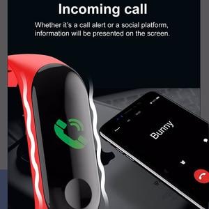 Image 5 - Kivbwy Bluetooth ספורט חכם צמיד להקת קצב לב לחץ דם עמיד למים כושר M3 חכם להקת גשש כושר מד צעדים