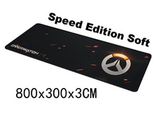 Schwarz OW Große Größe 800*300*3mm Große Overwatch Goliathus Erweiterte GESCHWINDIGKEIT Weiche Auflage Gaming Mouse Mat/Pad Mousepad
