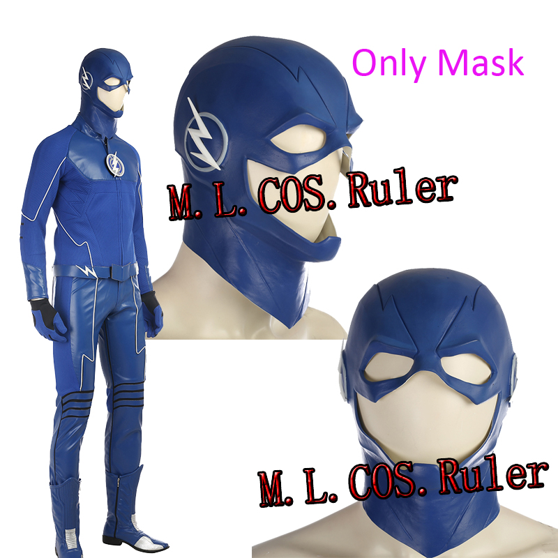 Blue Flash From Future Flash Blue Flash Cosplay Mask Only the Helmet Headwear For Halloween Custom Made Free Shipping