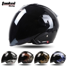 Tanked Racing Motorcycle Bike open face helmet cascos capacete brand helmet motocross helmets 3/4 fashion helmet woman T536