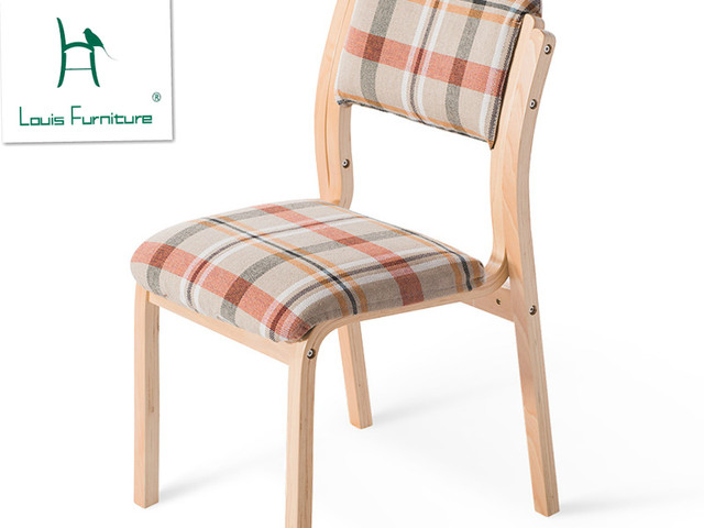 Mesa de madera maciza y silla estilo europeo del norte y moderno ...