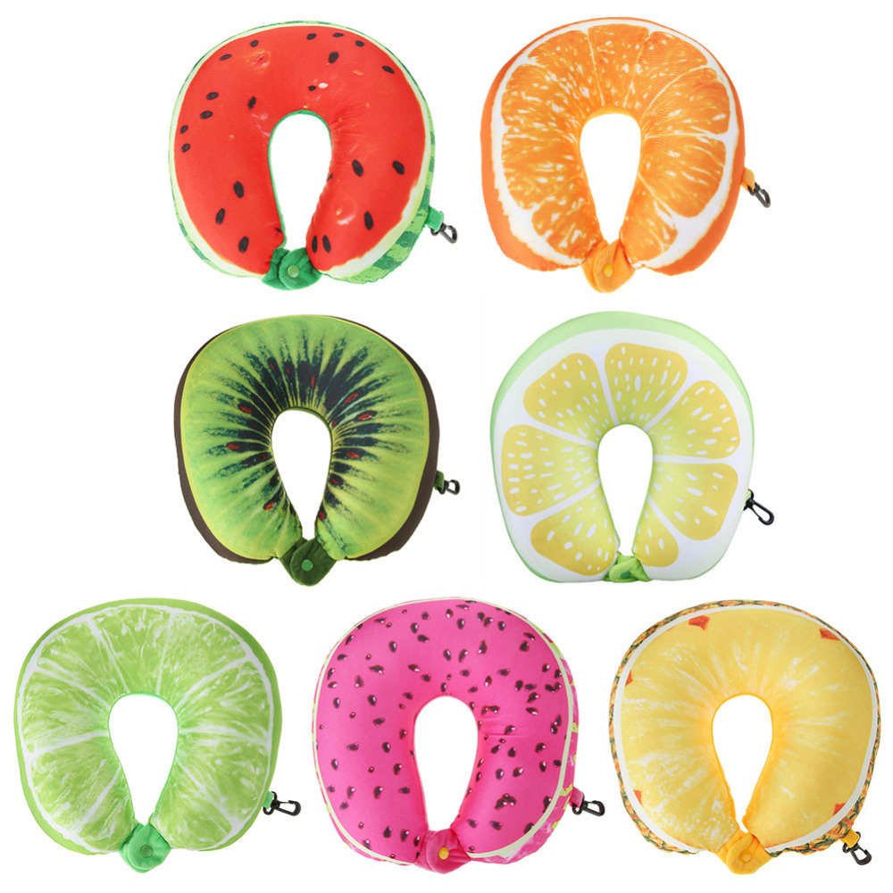 Supply Fruit U Shaped Travel Pillows Cushion Neck Support Protection Headrest Car Travel Soft Massage Pillow Home Textile Decors Attractive Designs; Garden Supplies