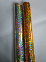 2rolls Lot Holographic Foil Broken Glass Gold Color A04 And Silver Color B04 And Hot