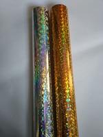 Lamina olografica vetri rotti color oro e color argento stampa a caldo foil su carta o plastica 16 cm 21 cm o 64 cm x 120 m