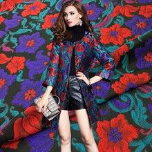 1Meter/Lot Winter Jacquard Fabric For Women Dress Coat Jacket Brocade Fabrics With 530g/m 140cm Width Clothing Patchwork Diy
