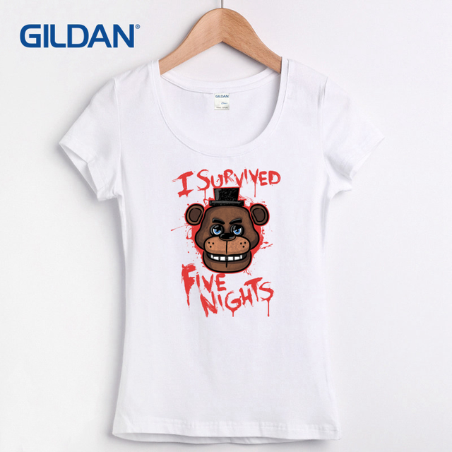 Five Nights At Freddy Horror Cute Cartoon 2017 Funny T Shirt For Sale Summer  Funny