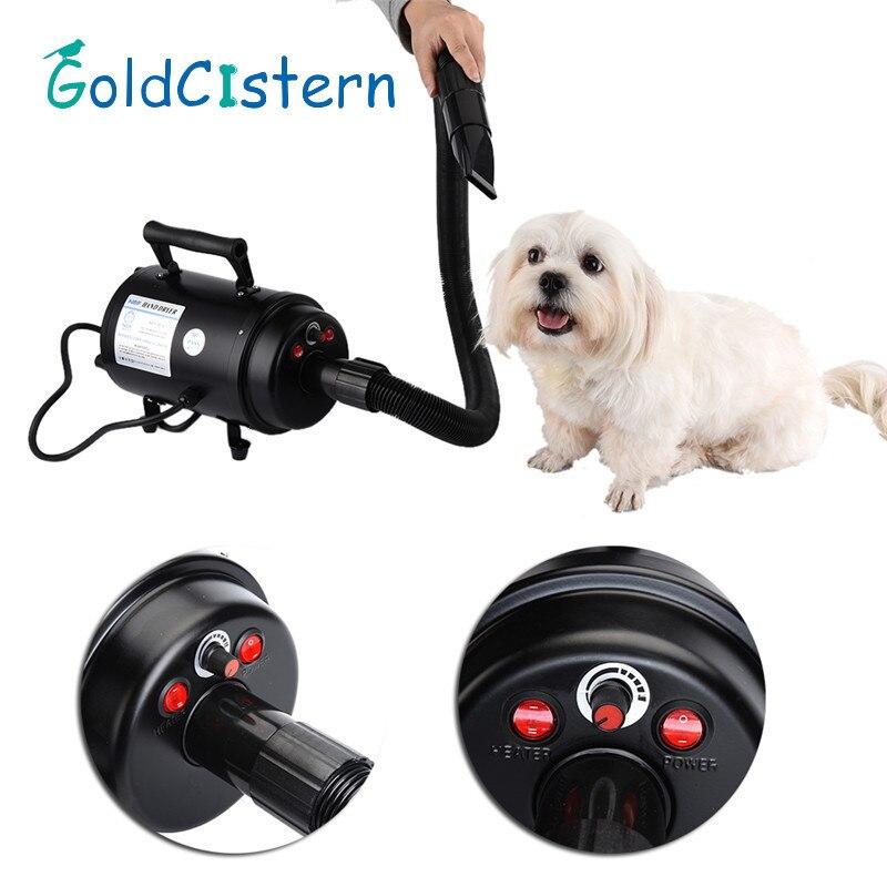 Dog Dryer Professional Pet Dog Grooming Hair Dryer 2800W  Pets Air Force Commander Hair Dryer  EU1PCS  2017 new 5 in 1 sets brand cheap dog grooming dryer cheap pet hair dryer blower 220v 110v 2400w eu plug pink blue color