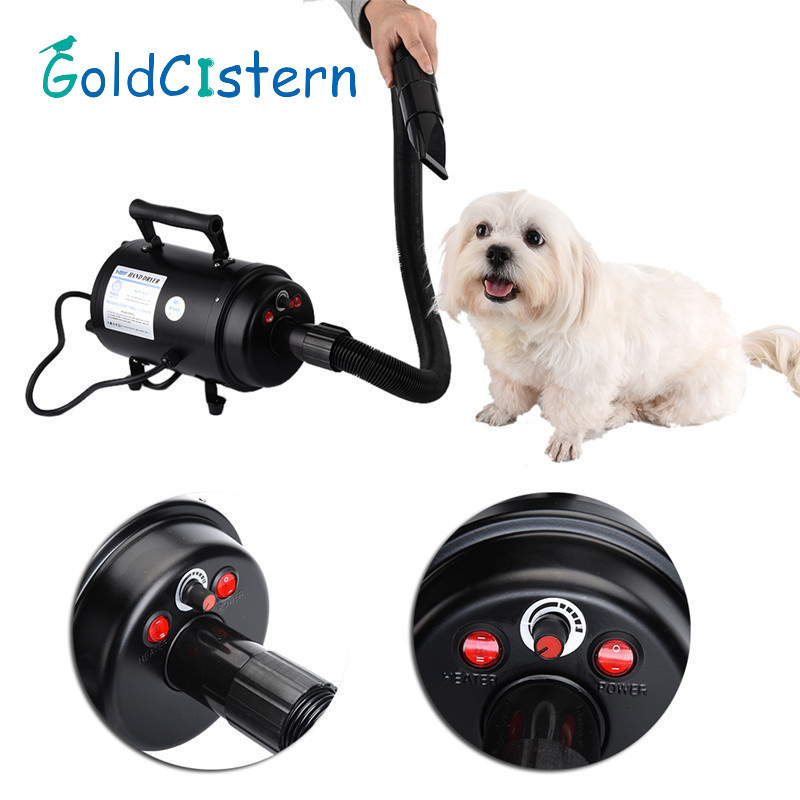 Dog Dryer Professional Pet Dog Grooming Hair Dryer 2800W Pets Air Force Commander Hair Dryer EU1PCS