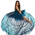 Geometric Print Beach Bikini Cover Up Round Hippie Tapestry Mandala Towel Tunic Picnic Mat Hot Shawl Chiffon Pashmina Wrap Novv2