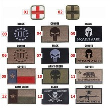 The Punisher Texas Red Cross Embroidery 3D Patch Armband Skull Tactical Gear Outdoor Props Badge Patches