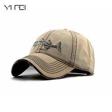 YIFEI AUTUMN Hot Sell 2018 New Casual Brand Baseball Cap Men Genuine Sports Fishbone Logo Snapback Caps Cotton Sun Fashion Hats