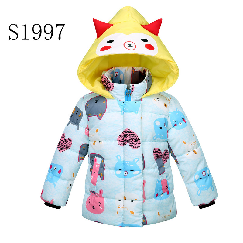 New 2017 Children Down Parkas Solid Winter Kids Outerwear Coat Boys Casual Warm Hooded Feather Cotton Coat For Boys  2-10 T Kids children winter coats jacket baby boys warm outerwear thickening outdoors kids snow proof coat parkas cotton padded clothes