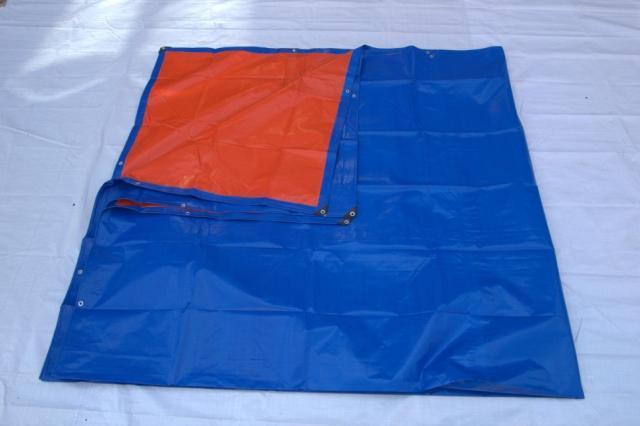 Personalizar 6 m X 8 m Azul y naranja mercancías al aire libre cubierta de tela, tela impermeable, lienzo, lona lluvia, lona de camión,