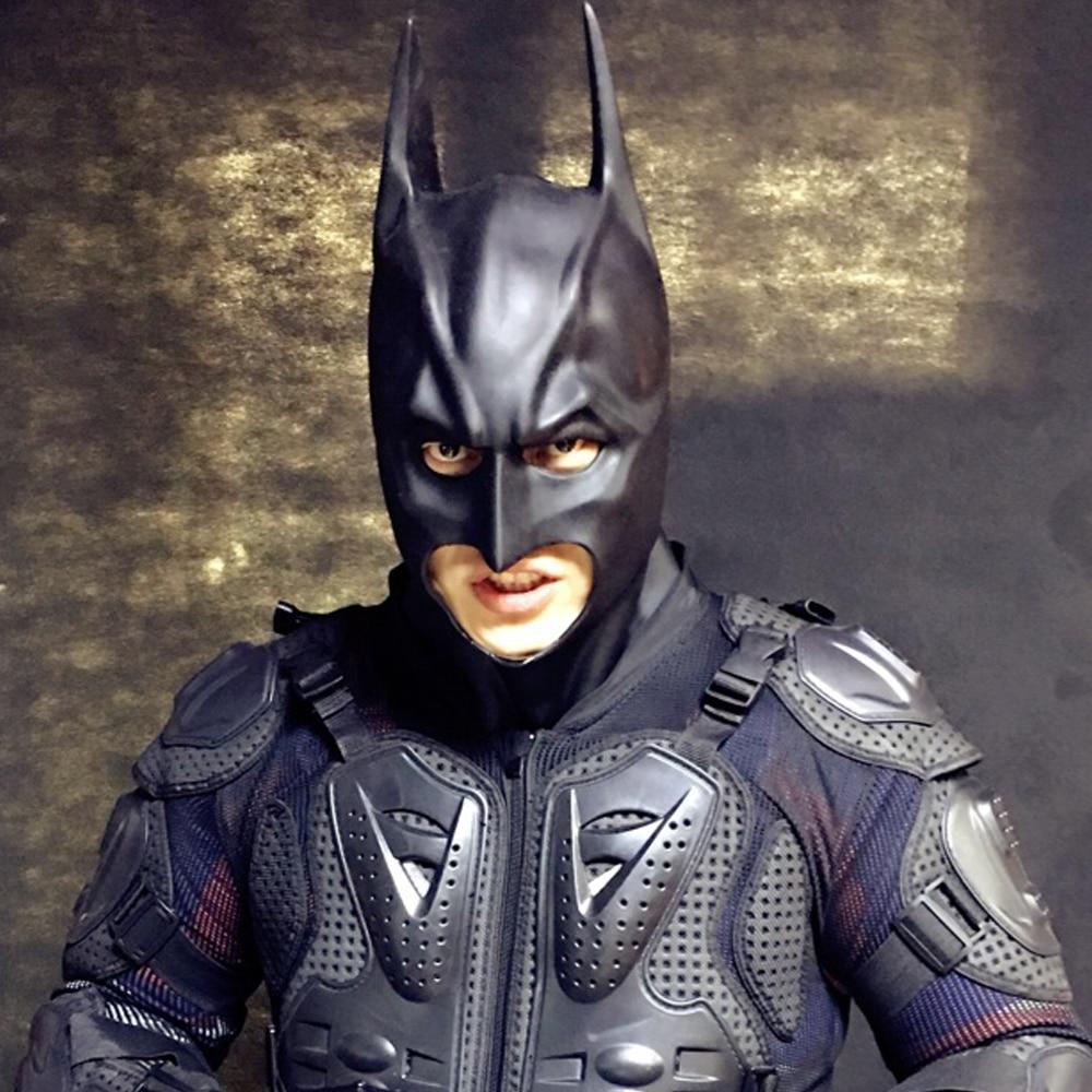 Batman Super Hero Mask The Dark Knight Adult Batman Full Overhead Latex Black Mask Cosplay Masks Helmets Party Halloween Props  hoodie