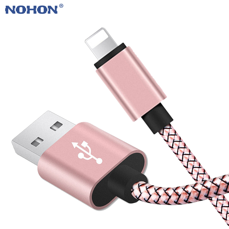 20cm 1m 2m 3m Data USB Charger Cable For iPhone 6s 6 s 7 8 Plus Xs Max XR X 10 5s iPad Nylon Fast Charging Origin Long Wire Cord(China)