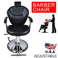 Shellhard Black Barber Chair Styling Adjustable Salon Hair Hydraulic Barber Chair Furniture