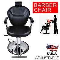 Shellhard Black Barber Chair Styling Adjustable Salon Hair Hydraulic Barber Chair Furniture