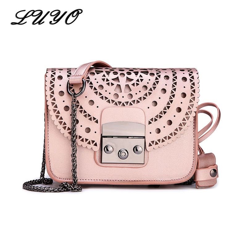 Fashion Women Genuine Leather Messenger Bag Ladies Handbag Small Crossbody Bags Flap Famous Brands Designers Girls