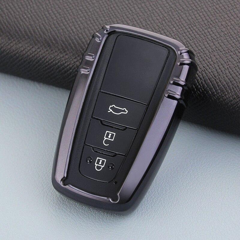 Fit For 2019 Toyota Corolla Hatchback Smart Key Metal Case Cover Holder Black