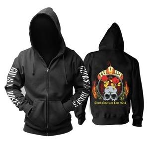 Image 3 - 26 Ontwerpen Guns N Roses Sweatshirt Gnr Katoen Rock Rits Hoodies Shell Jas Guns N Roses Punk Hardrock Heavy Metal sudadera