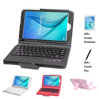 Magnetic Removable Detachable Bluetooth Keyboard Flip Leather Stand Case For Samsung Galaxy Tab E 8.0 T377 T375