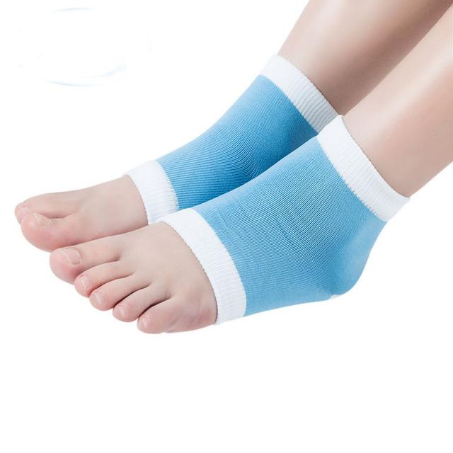 2015 New Arrival Heel Socks for Dry Hard Cracked Skin Moisturising Open Toe Recovery Socks Freeshipping&Wholesale