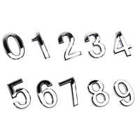 2019 hot numéral porte Plaque maison signe placage porte 0 à 9 en plastique numéro étiquette hôtel maison autocollant porte étiquette