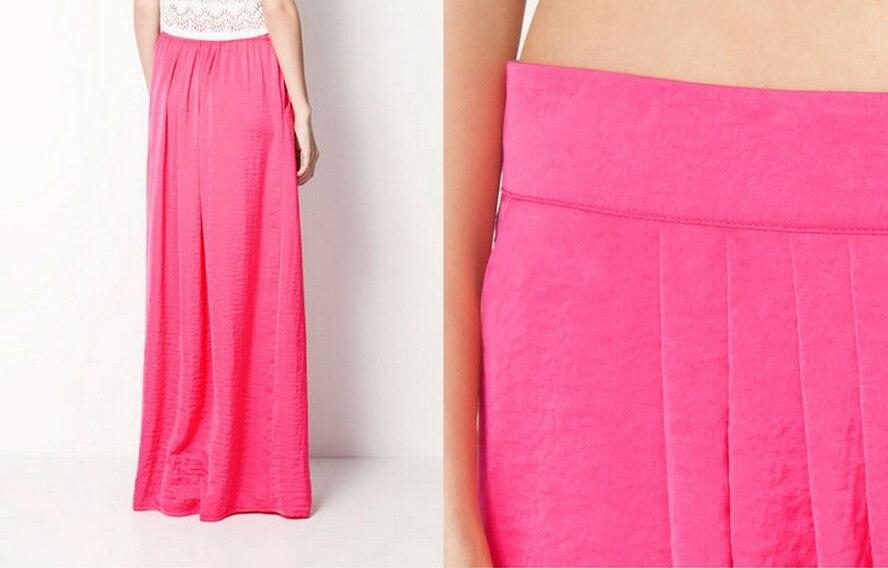 Женская длинная юбка в стиле знаменитостей пастельных конфетных цветов, плиссированная юбка размера плюс для женщин, юбки синего, зеленого, розового, красного цветов