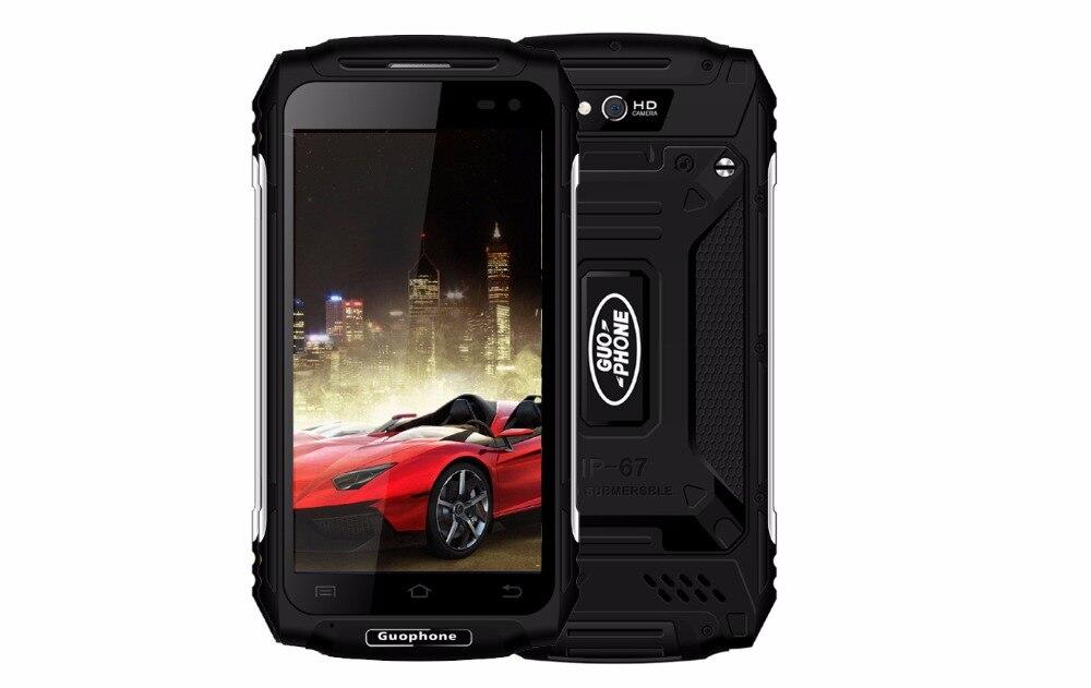 Guophone X2 IP67 Étanche À La Poussière Smartphone 1280*720 5.0 MTK6737 Quad Core RAM 2 gb ROM 16 gb 5500 mah 4g 8MP Mobile Téléphone