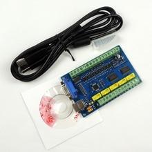 Обновленная CNC MACH3 USB 5 Axis 100KHz USBCNC плавный шаговый контроллер движения карта секционная плата для гравировки с ЧПУ 12-24 В