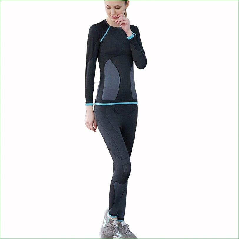 Conjuntos de Meias de Compressão T-shirt + Calça Livre em Execução Set para ao ar Mulheres Esporte Suor Secagem Rápida Cueca Correndo – Fwt02