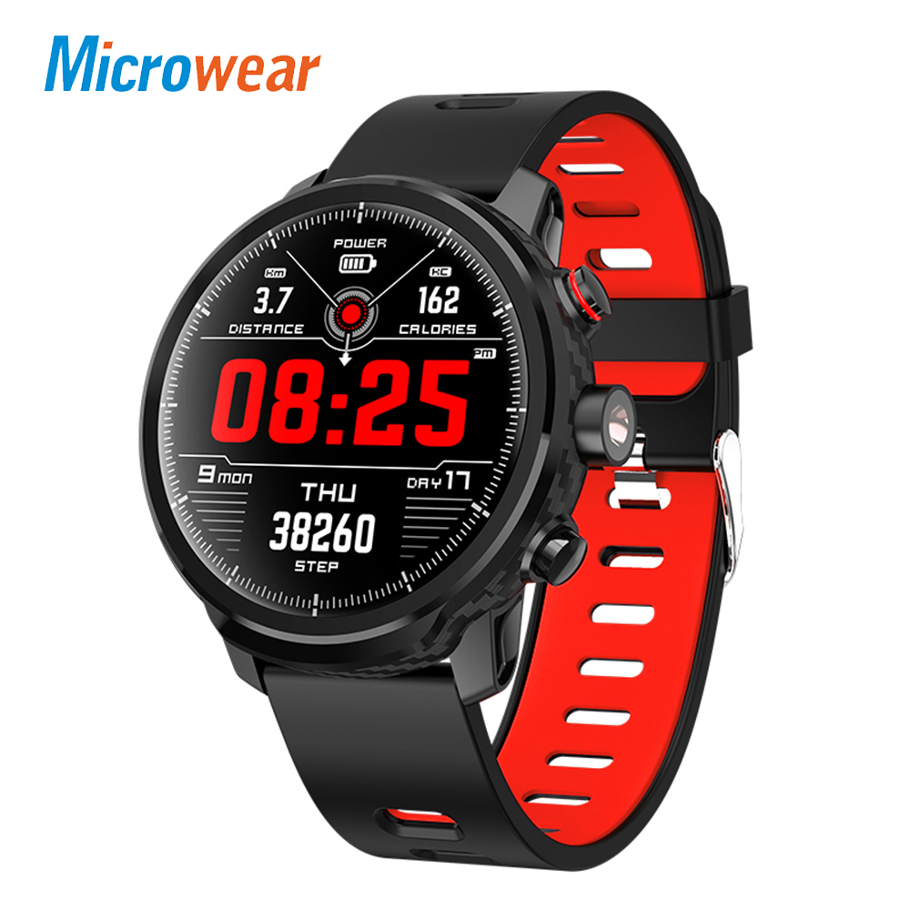 Microwear L5 Smart Watch Men Women IP68 Waterproof Multiple Sports Mode Heart Rate Monitor Bluetooth Smartwatch