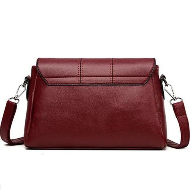 Simple Messenger Women Flap Lock Handbags