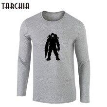 TARCHIIA Casual Men's Spaceman T-Shirt Men 100% Cotton Vintage Spaceman Crew-Neck Full Sleeves Print Tees Tops Summer Clothing