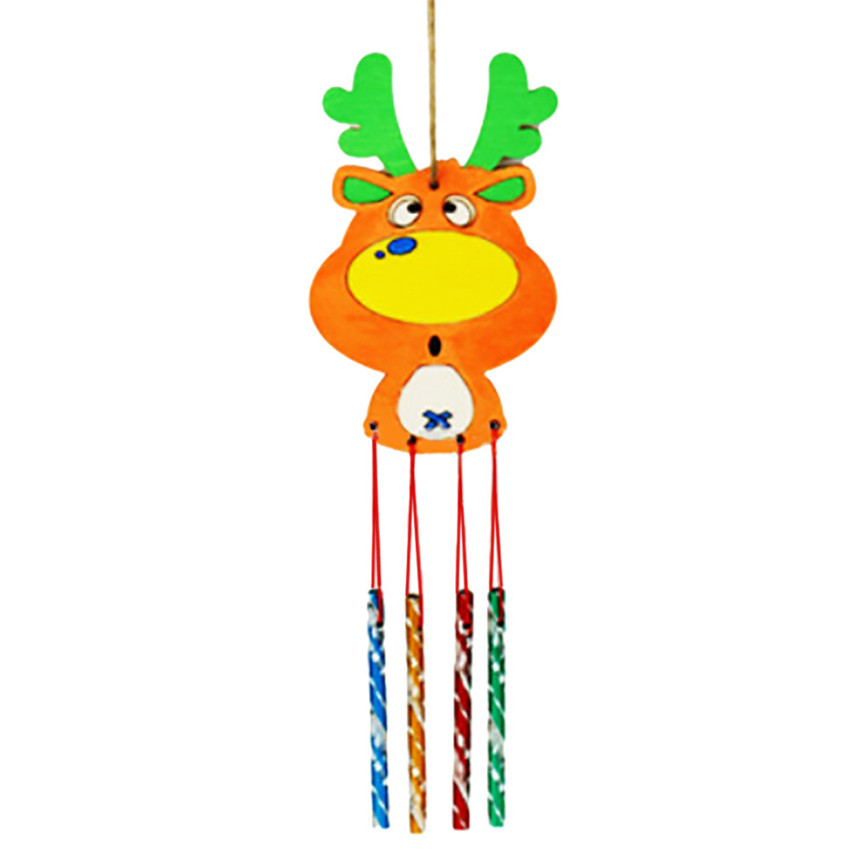 2019 HOT Christmas Creative Wind Bell For Christmas White Wood Wind Bell Dropshipping YH 460982 in Wind Chimes Hanging Decorations from Home Garden