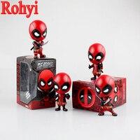 Rohyi Hot Sale 10cm Deadpool Katana Sword Car Bobble Head Anime PVC Action Figure The Avengers