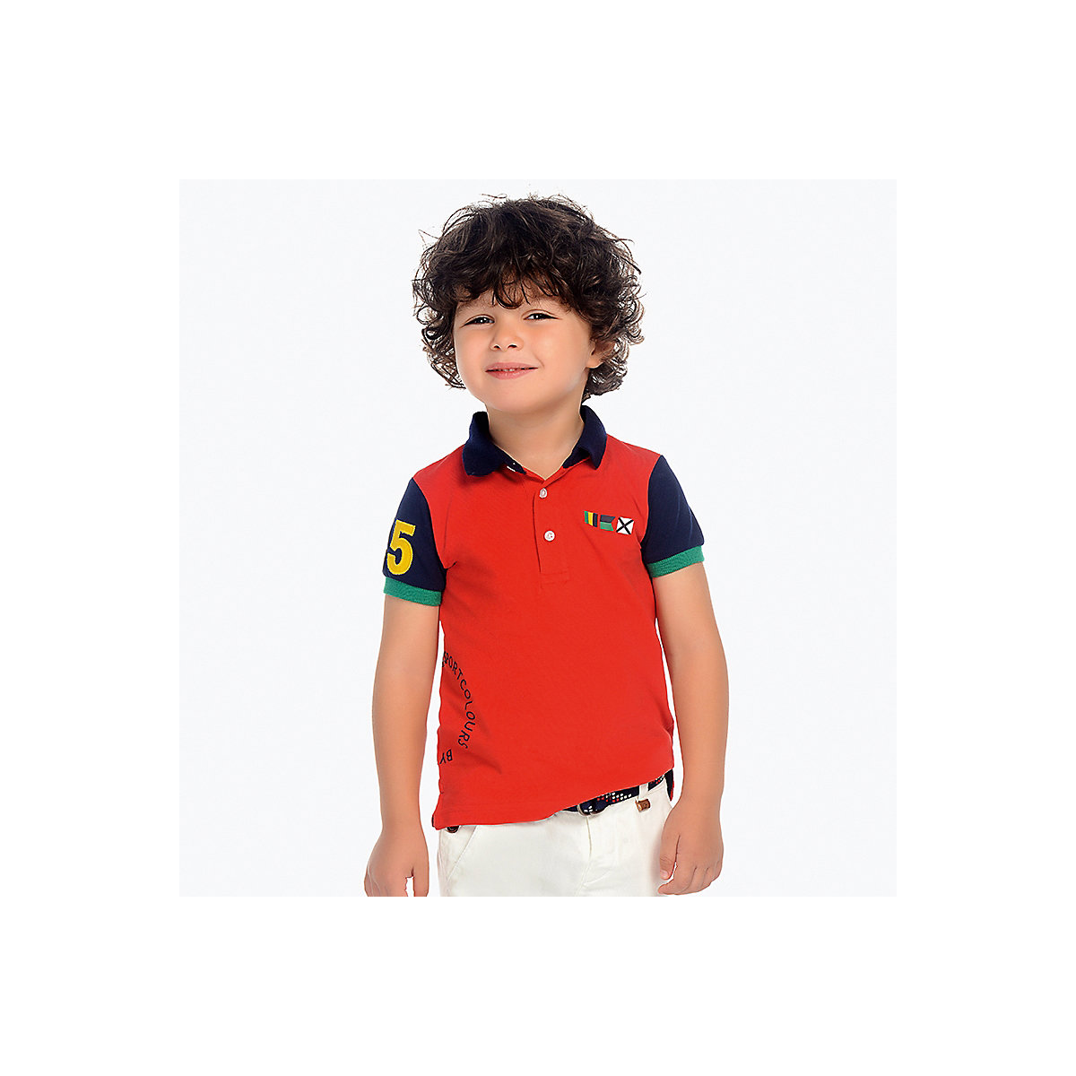 T-Shirts MAYORAL 10688951 Children sClothing T-shirt with short sleeves polo shirt for boys and girls girls lace trim contrast ruffle hem striped t shirt