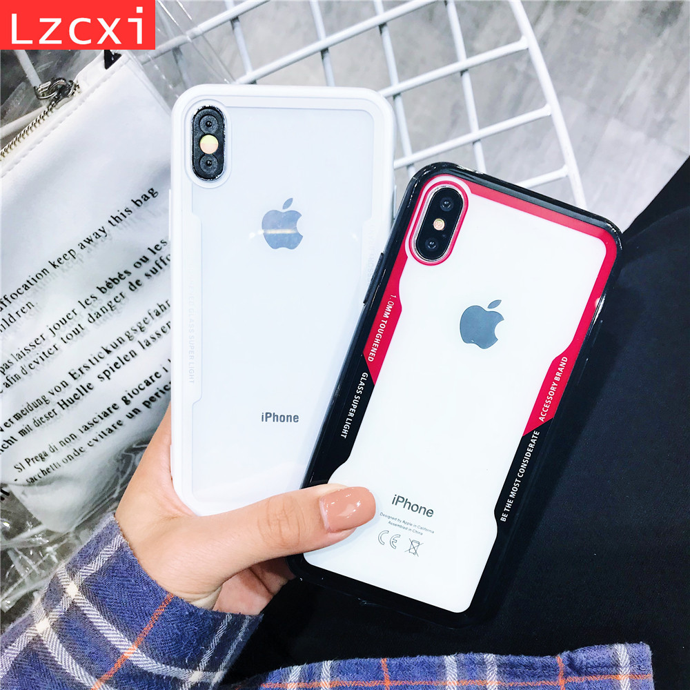 b4d4c280fa3 Shockproof Clear Full Protective Slim TPU & Acrylic Transparent Back Cover  Case for iPhone 8 7 6 6S Plus X 5 5S SE Cases Fundas