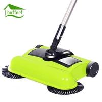 New Stainless Steel Sweeping Machine Push Type Magic Broom Dustpan Handle Household Vacuum Cleaner Hand Push