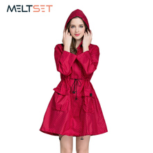 Fashion Women Raincoat Waterproof Trench Coat Motorcycle Rainwear Windbreaker Rain Jacket Hoodie Bicycle Outdoor Poncho