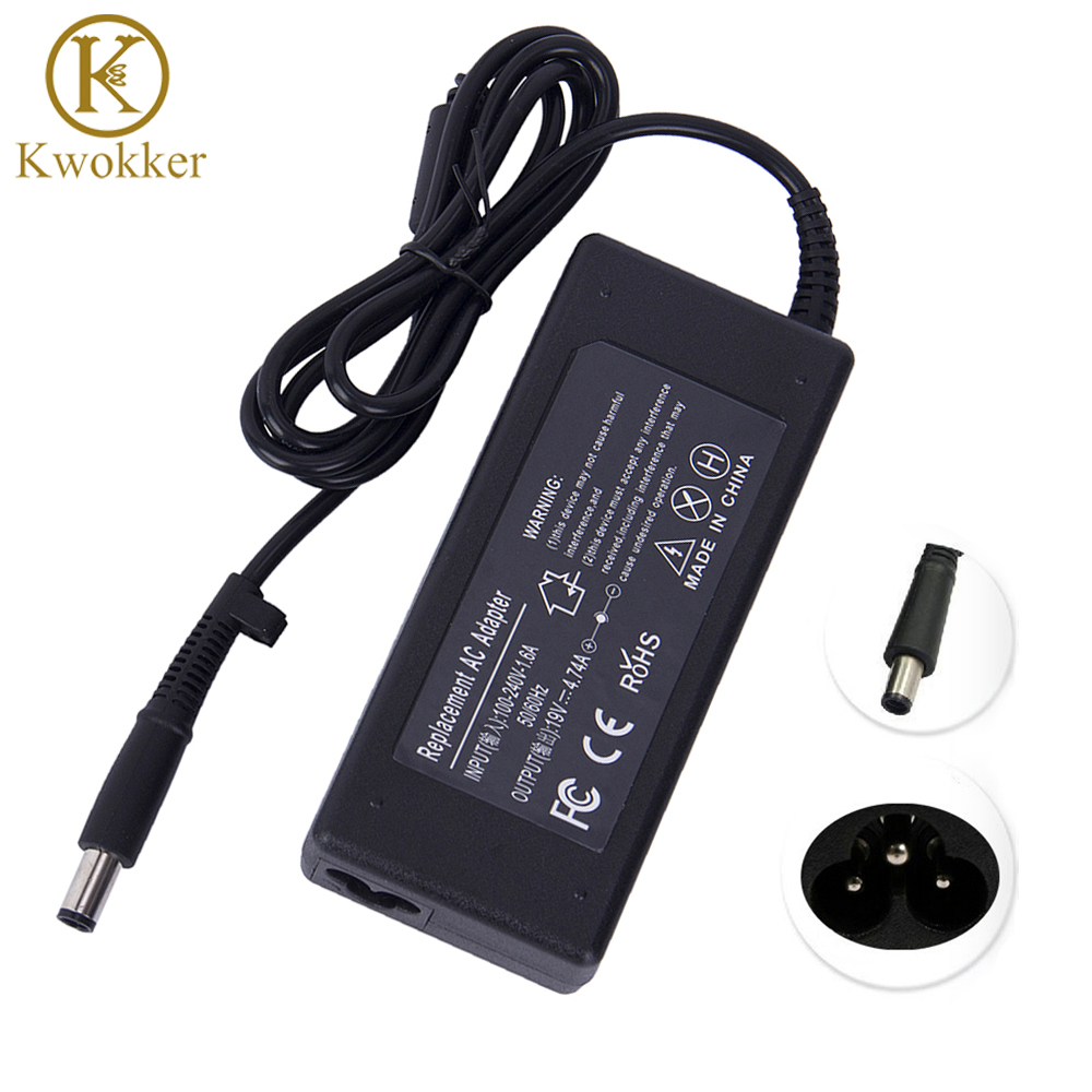 все цены на KWOKKER Power Supply 19V 4.74A 7.5x5.0mm AC Adapter Charger For hp Laptop G4 DV3 DV4 DV5 DM4 6515B 8710P NC2400 NX6115