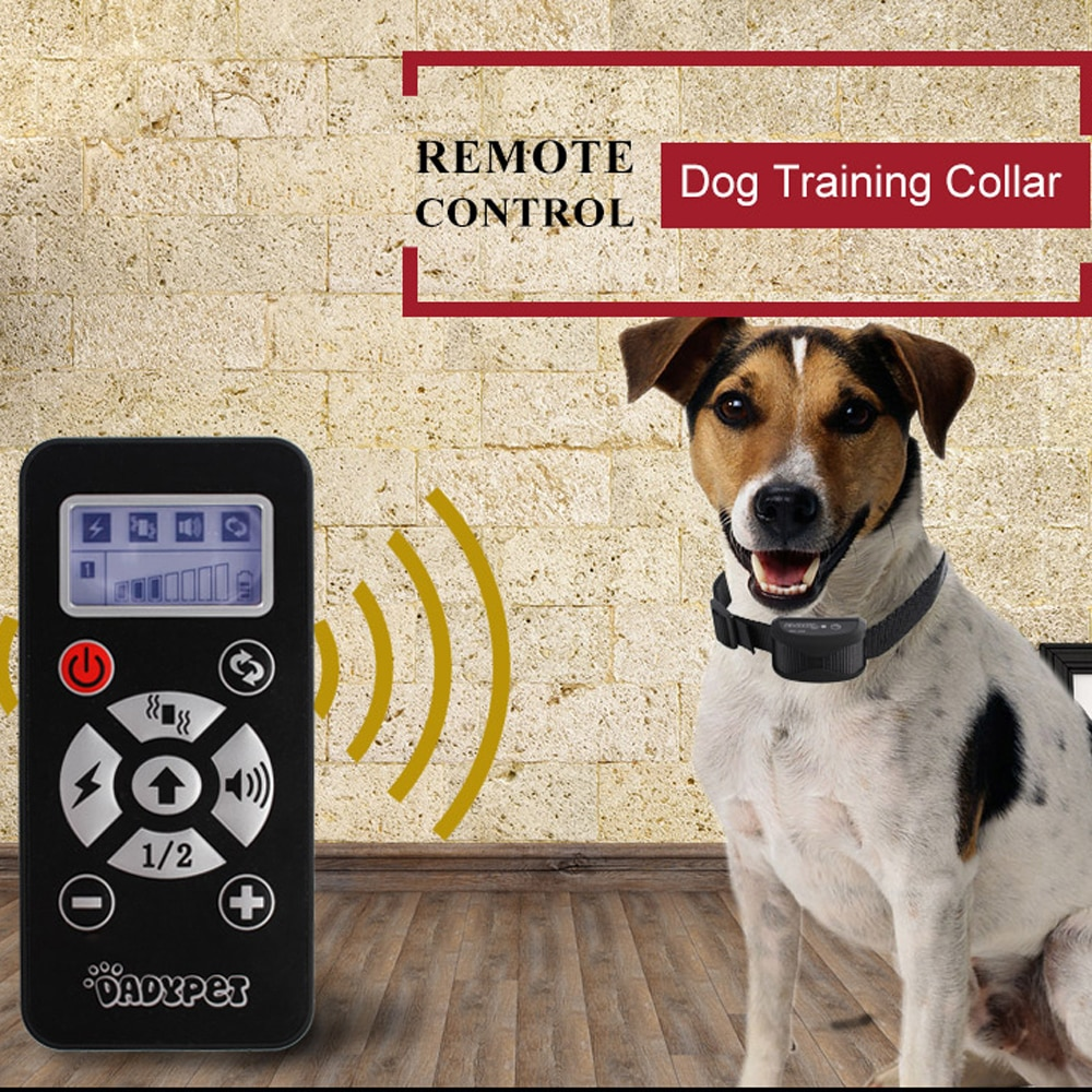 Rechargeable Waterproof Portable Remote Dogs Pet Training Trainer Collar Vibration Intensity Adjustment LCD Screen Automation