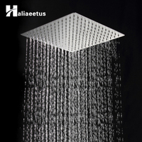 Square Stainless Steel Showerhead Rainfall Shower Head Rain Shower Chrome High Pressure Chuveiro