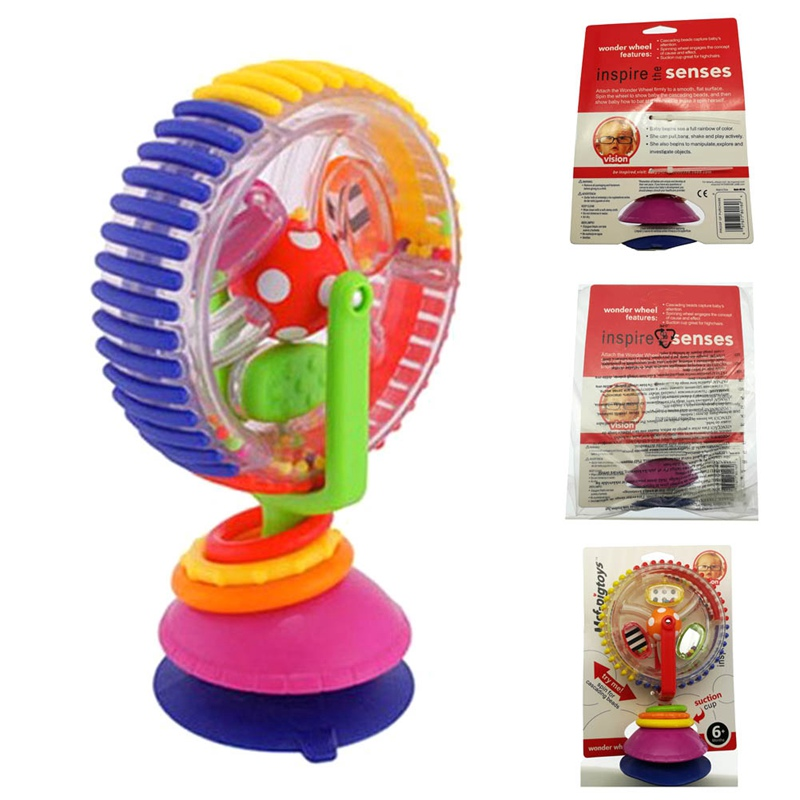New Baby Toy Three-color Model Rotating Windmill Stroller Dining Chair With Suction Cups Educational Toys For Kids