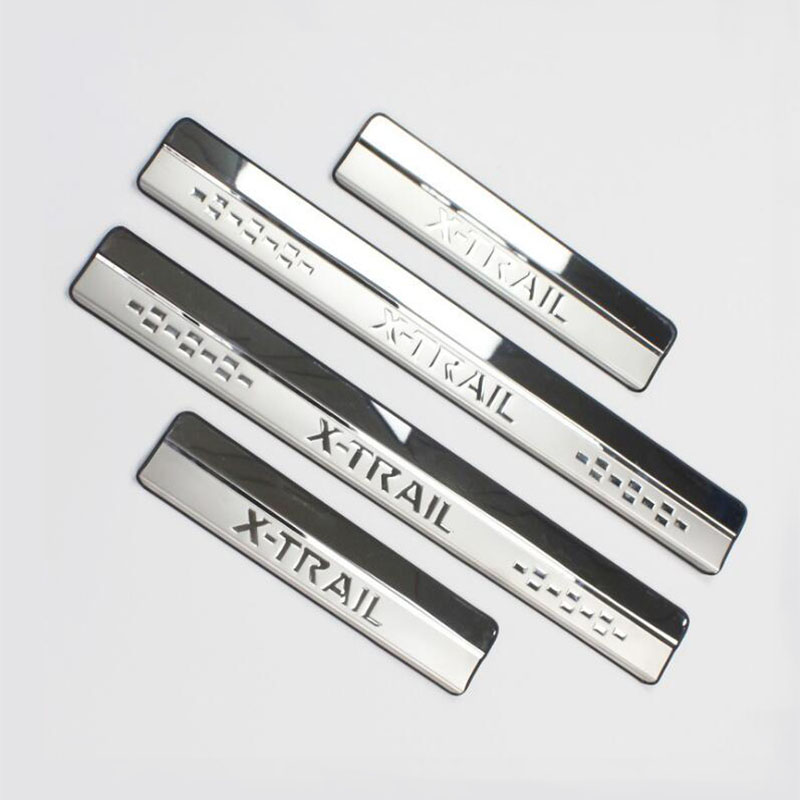 Stainless Steel Door Sill Scuff Plate fit for Nissan X-Trail XTrail T32 2014 2015 2016 2017 Welcome Pedal Trim Car Styling stainless steel led scuff plate door outside sills trim car accessories welcome pedal for ford kuga 2013 2014