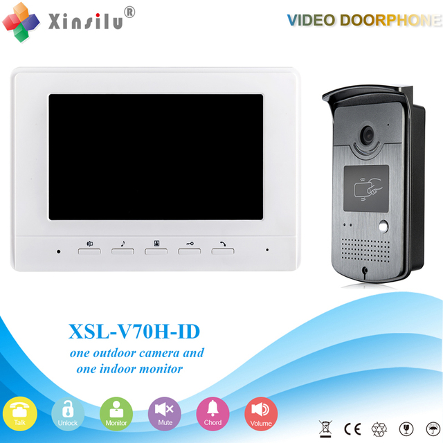 Xinsilu V70H-ID Doorbell Camera With 4.3inch Door Viewer Indoor Monitor Out Door Phone Bell Video Photo IR Voice Unlock