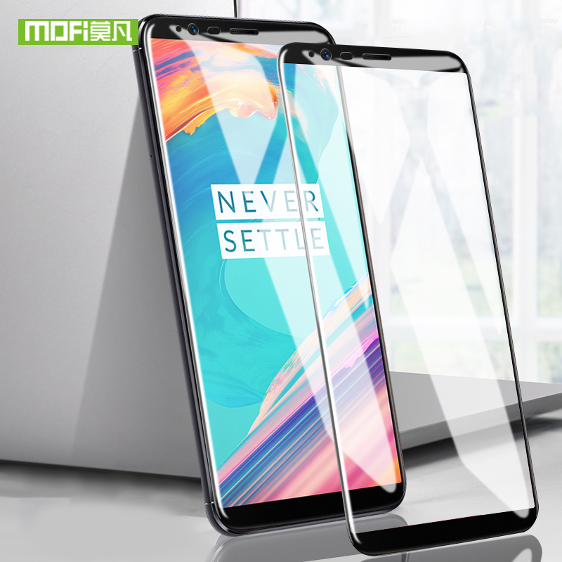 Mofi For Oneplus 5t Glass Film For One Plus 5t Glass Screen Protector For Oneplus 5t Tempered Glass Full Cover 9H 6.0 Inches