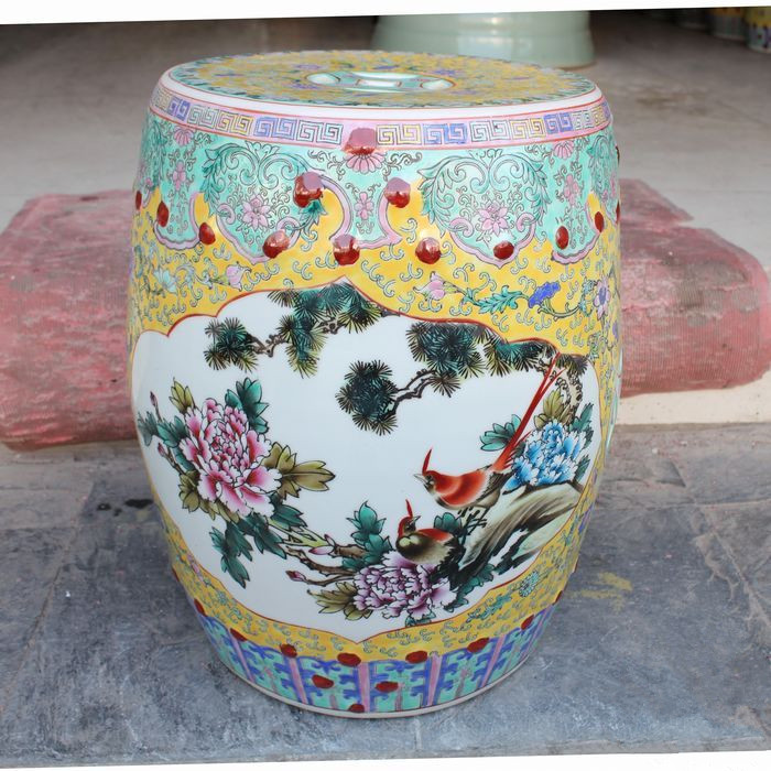 Superb Us 299 0 Famille Rose Porcelain Jindezhen Chinese Ceramic Drum Stool Bathroom Dressing Ceramic Garden Stool Outdoor Stool In Stools Ottomans From Gamerscity Chair Design For Home Gamerscityorg